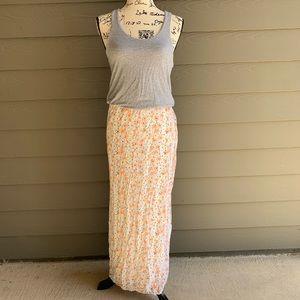 Victoria Secret Gray Floral Skirt Maxi Dress XS